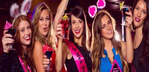 LAS VEGAS BACHELORETTE PHOTO TOUR CHAMPAGNE PARTY BUS