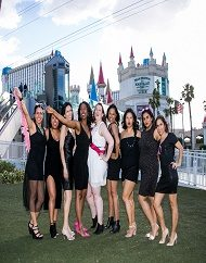 Las Vegas Bachelorette Party Bus Champagne Photo Tour