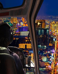 Las Vegas Night Strip Helicopter Tour Plus Dinner Package