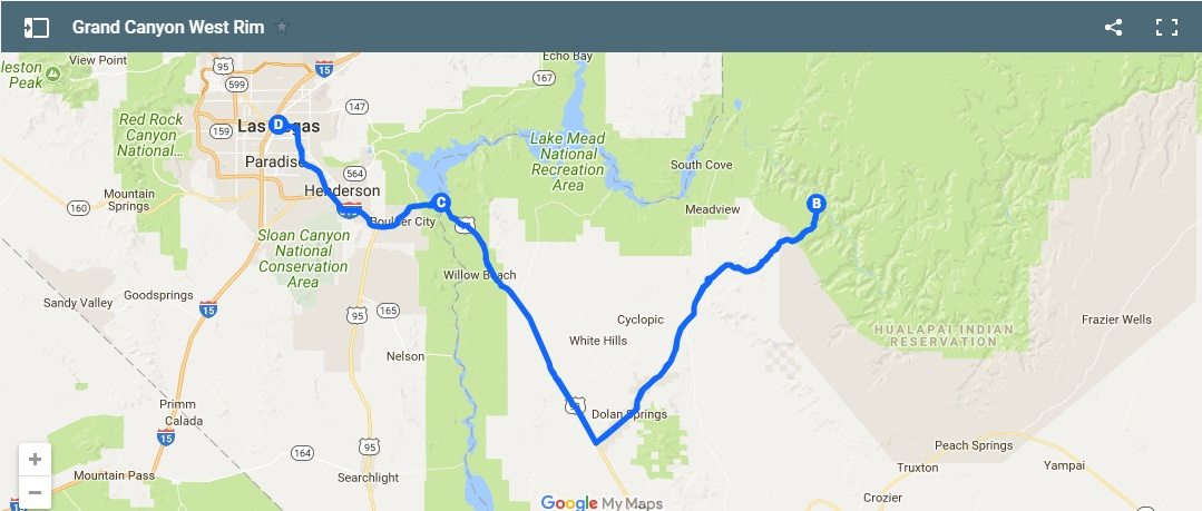 West Rim Day Trip Optional Helicopter Tour Upgrade - Grand canyon west rim map