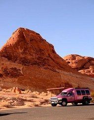 Valley of Fire Adventure Tour Las Vegas Pink Jeep Trekker