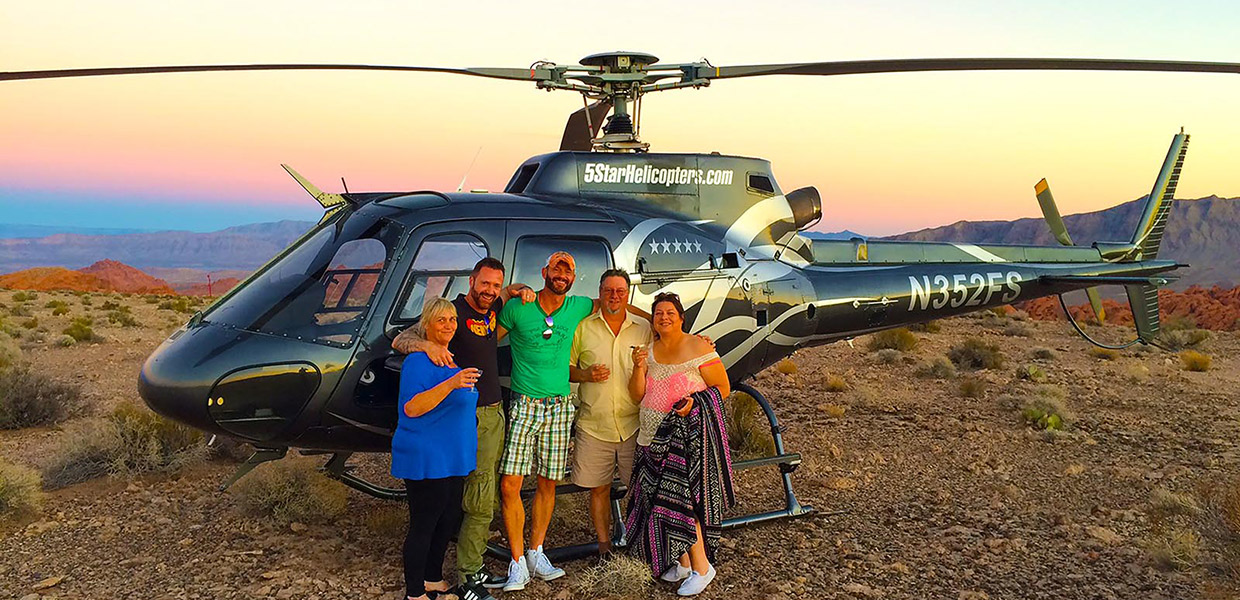 sunset grand canyon valley of fire helicopter Tour